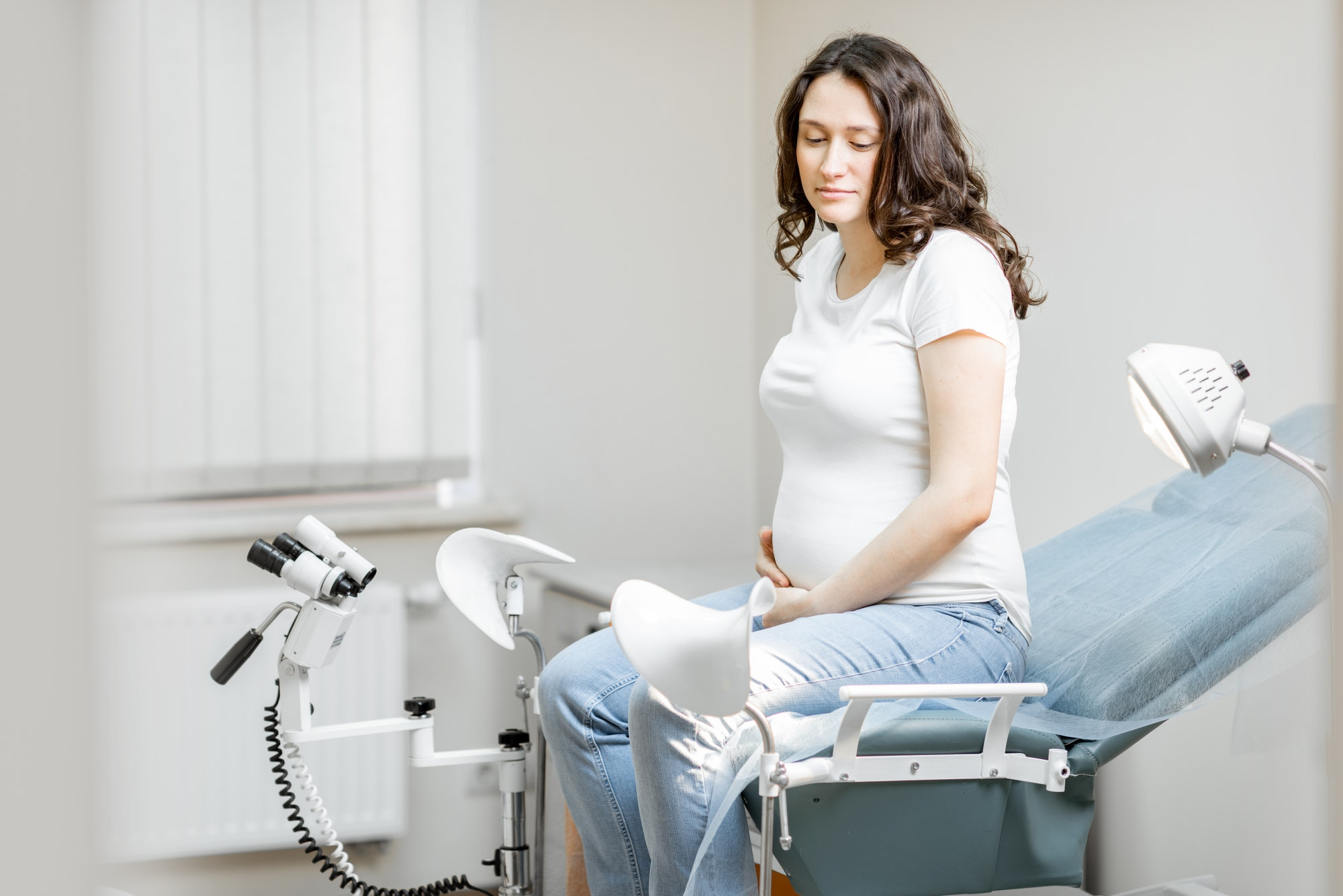 Pregnant woman in a hospital